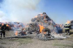 Kétezer körbála kapott lángra Újsolt határában1